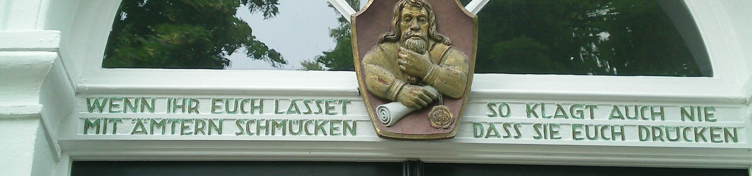 Eingangstür Residenzstadt Greiz / Thüringen